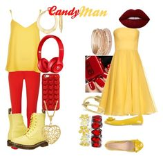 """""""Candyman- Zedd ft. Aloe Blacc"""" by ogwert on Polyvore featuring Michael Kors, Alexander McQueen, River Island, Dr. Martens, PrimaDonna, Lime Crime, Marc Jacobs, Red Camel, Beats by Dr. Dre and Liz Claiborne"""