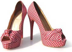 Gingham shoes perfect picnic at the races