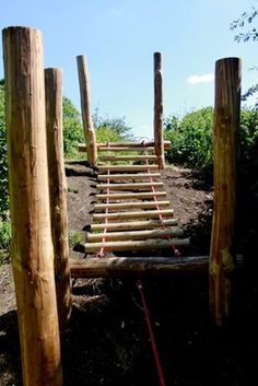 rope ladder on the hill