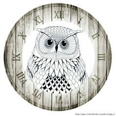 clock plate - Google otsing Clock Face Printable, Paper Clock, Owl Clock, China Painting, Decoupage Paper, Owl Art, Animal Wallpaper, Decoration Table, Collage Sheet