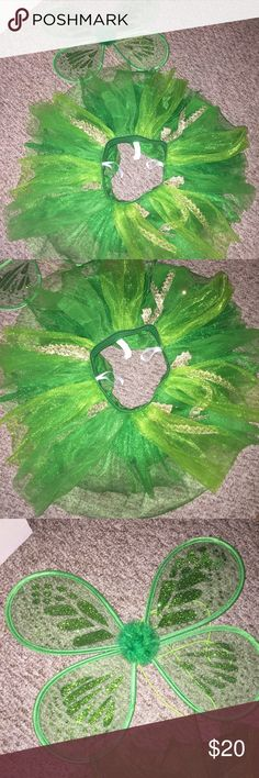 🍀TUTU & wings costume set🍀 🍀TUTU & wings costume set🍀 SZ small •• NEVER WORN!! •• smoke free home •• gifts with every purchase •• discounts on bundles!!! Skirts Mini