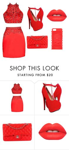 """club pt 1"" by dayshiawil on Polyvore featuring Chanel, Lime Crime and Moschino"