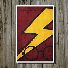 Harry Potter the boy who lived print movie poster minimalist poster geekery art print sci fi print