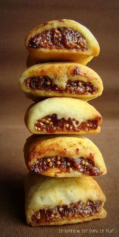 aux figues - Food And Drink For You Desserts With Biscuits, No Cook Desserts, Cookie Desserts, Cookie Recipes, Dessert Recipes, Dessert Biscuits, Fruit Recipes, Shortbread, Biscuit Cookies