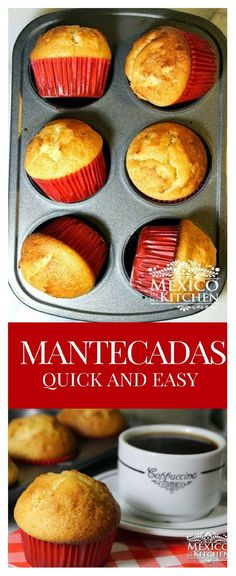 How to make Mantecadas Quick and Easy │Sweet bread has a culture of its own in Mexico, and is a tradition that has been embraced and deeply loved for generations. Mantecadas Quick and Easy │easyrecipes Mexican Pastries, Mexican Sweet Breads, Mexican Bread, Sweet Pastries, Mexican Dishes, Mexican Menu, Mantecadas Recipe, Mexican Dessert Recipes, Mexican Cupcakes