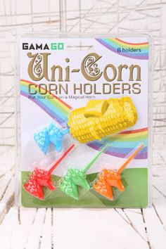 Unicorn Uni-corn corn holders £8 Kitchen at Urban Outfitters