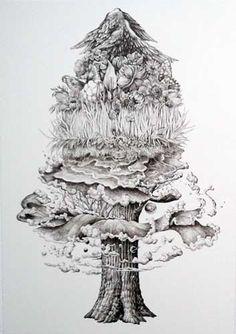 Tree by Kozue Oshima - JAPIGOZZI Collection 2012 - Contemporary Japanese Art Collection