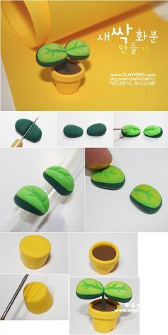 绿芽.jpg,Clay Crafts, Fimo, Sculpey , Modelling , Polymer Crafts with Sculpting…