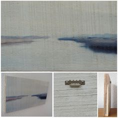 STROLLING ALONG BLEAK WATERS - Foto op hout, Photo on wood, print, afdruk, acaciahout, FSC keurmerk