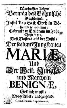 Warhaffter Zeiger vermög deß Böhmische Büchleins: Insul das Heil. Orth in ... - Knihy Google Old Books, Google, Antique Books