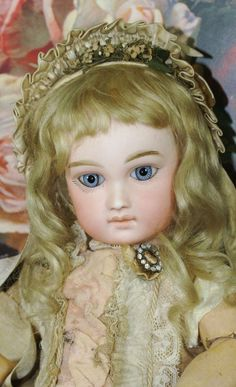 "15"" Portrait Jumeau Bebe with delicate painting"