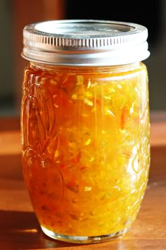 ~Jalapeno Jelly~  This stuff is AMAZING! It tastes like a fancy jelly you would find at Williams-Sonoma or Harry and David. It seems like it would be super hot, but I promise it's not. It is perfectly sweet with just a tiny little kick My sister gave me this recipe and it has quickly become a favorite in our household especially when we have it with cream cheese and Triscuits.