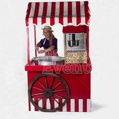 Candy Floss and Popcorn on the same cart