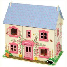 Wooden dollhouse. La regina tra le nostre case delle bambole è questa splendida #casadellebambole cottage in legno completamente arredata e completa di personaggi in perfetto stile inglese. Acquistabile su http://www.giochiecologici.it/p/16/casa-bambole-big-cottage-arredato Spedizione gratuita in tutta Italia!