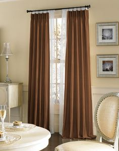 Brown Dupioni Silk Drapes, dupioni silk by the yard, dupioni silk drapes ~ Home Design Dupioni Silk Fabric, Silk Drapes, Drapery Fabric, Curtains, Yard, House Design, Brown, Home Decor, Blinds