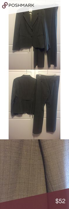 """The Limited Travel Pants Suit Jacket is single breasted, two button with notched collar and two slit pockets, fully lined. Cuffs are accented with 3 buttons. It measures 16"""" across the shoulders, 18"""" at bust, sleeves are 25"""" long and jacket is 25"""" long. The pants are side zip with a wide waist band and 3 buttons. """"Cassidy Fit"""". They measure: waist 16"""", inseam 31"""". Wool blend travel material makes it perfect for business women. Only worn once or twice. The Limited Jackets & Coats Blazers"""