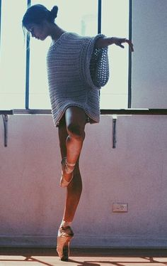 That sweater <3 - www.thewonderfulworldofdance.com #ballet #dance