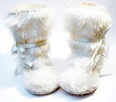 Perfect for Winter- Snow White Faux Fur Baby Boots Mukluk Style. Baby First Shoes Baptism Baby Shoes Boots Wedding Baby Christening