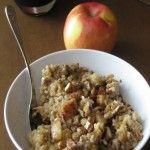 {Crock pot} Steel-Cut Apple Cinnamon Overnight Oats