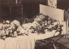 """Tsarevich Nicholas Alexandrovich Romanov of Russia on his deathbed.The brother of Tsar Alexander lll of Russia and the first fiancé of Princess Dagmar of Denmark. """"AL"""""""