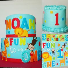 """Fun to be one"" birthday cake"