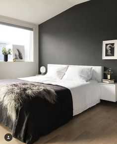 Guest bedroom design ideas that are warm, cosy and inviting Read more at Gray Bedroom Walls, Dream Bedroom, Home Bedroom, Master Bedroom, Bedroom Decor, Bedrooms, Budget Bedroom, Minimal Bedroom, Modern Bedroom