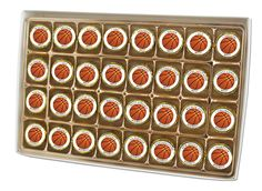 Choctology™ box of individually wrapped cameo chocolate pieces.