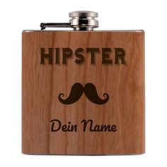 Hipster, Flask, Names, Etsy Shop, Craft Gifts, Stainless Steel, Handmade, Timber Wood, Hipsters