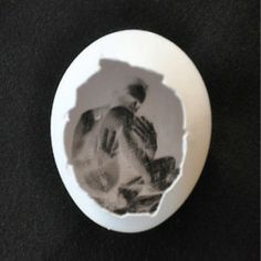 """Pinhegg, created by Francesco Capponi, is a pinhole camera crafted from an eggshell. The """"camera"""" is only good for one shot and must be sacrificed in order to reveal the image."""