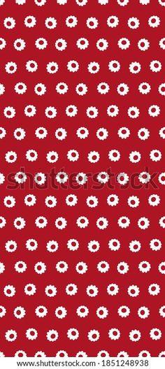 Phone Wallpaper Seamless Floral Vector Stock Vector (Royalty Free) 1851248938