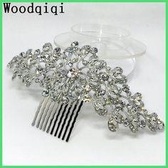 Woodqiqi peinetas y accesorios para peinados bridal hair accessories wedding hair rhinestone hair combs bridal headpiece