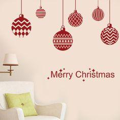 Αυτοκόλλητο με την ευχή Merry Christmas και έξι διαφορετικές κρεμαστές μπάλες για να ομορφύνουν το χώρο σου σε χριστουγεννιάτικη ατμόσφαιρα. Μπορείς να τα κολλήσεις και σε τζάμι για να διακοσμήσεις τα παράθυρα ή τα τζάμια του σπιτιού σου με πανέμορφα Χριστουγεννιάτικα σχέδια.  Μικρή ΔιάστασηΜεγαλύτερη μπάλα: 18x22, Μικρότερη: 10x10Μεσαία ΔιάστασηΜεγαλύτερη μπάλα: 27x27, Μικρότερη: 13x13Μεγάλη ΔιάστασηΜεγαλύτερη μπάλα: 35x35, Μικρότερη: 18x18