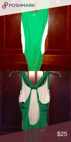 Nike One Piece Bathing Suit, Kelly Green! Size 10. Like new Nike One piece swim suit with racer back style. Green and white! EUC! Nike Swim One Pieces