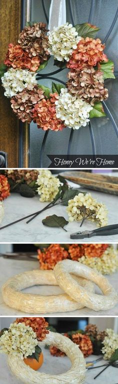 Check out the tutorial on how to make a DIY floral fall wreath @istandarddesign