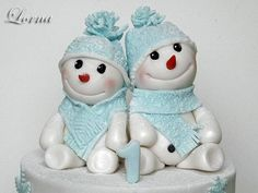 Snowmens :-) - Cake by Lorna