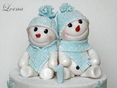 Snowmens :-) - Cake by Lorna