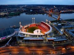 All-Star Game's return to Cincy different this time. Photo: Great American Ball Park in downtown Cincinnati before Opening Day 2015. The photo is shot from the Great American Tower at Queen City Square. The Enquirer/Liz Dufour