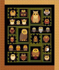 2013 Whoo Knows Quilt BOM by FatCat Patterns