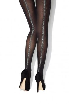 Patterned Tights - In Black, Funky or Plus Size Styles Black Patterned Tights, Funky Tights, Black Opaque Tights, Sheer Tights, Active Wear For Women, Women Wear, Color Blocking Outfits, Classic Skirts, Fashion Looks