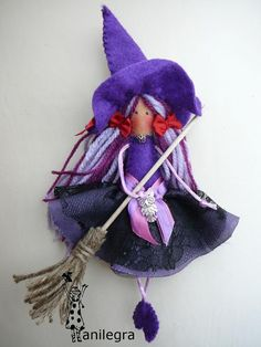 Anilegra moda para muñecas: BRUJILLA PÚRPURA