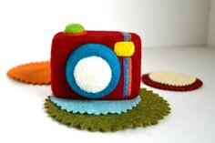 Needle Felted CameraNatural Toy by ThingsByV on Etsy, $18.00