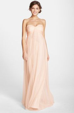 Amsale Amsale Drape Strapless Tulle Gown available at #Nordstrom