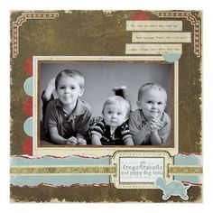 Rugged Baby Boy Scrapbook Layout