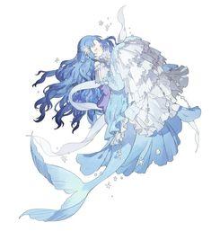 e-shuushuu kawaii and moe anime image board Anime Chibi, Manga Anime, Anime Mermaid, Mermaid Art, Anime Art Girl, Manga Art, Anime Girls, Fantasy Kunst, Fantasy Art