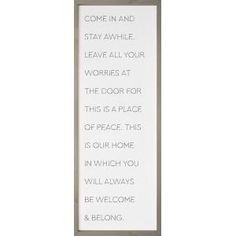 Uniquely crafted, this sign features a soft, textured backing overlaid with elegant design and sentiment. The texture adds depth and light shadowing. Deep frames allow for wall hanging or tabletop display. Table Top Display, Wall Décor, Graham, Overlays, Framed Art, Peace, Texture, Collections, Overlay