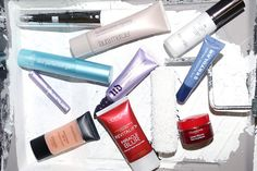L'Oreal Revitalift Miracle Blur, Urban Decay Brightening & Tightening complexion primer potion, urban decay lip primer potion, hourglass veil mineral primer oil free, dermablend professional skinperfector pigment correcting primer, clarins lisse minute, laura mercier foundation primer hydrating, smashbox photo finish spf 15, per-fekt skin perfection gel