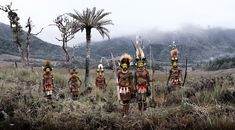 "INDONESIA + PAPUA NEW GUINEA ""We did know Papua New Guinea was a wild place, but not how intense it really was."" - Jimmy Nelson  HULI WIG MEN AT AMBUA FALLS"