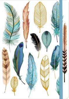 Feathers Gilded Journal by Margaret Berg