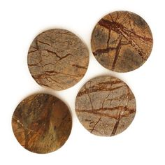 With tones that vary between oranges, creams and browns, these coasters are individually unique in colour. Cut from fossil stone, they complement our Fossil Stone Trivet and Fossil Stone Bowl. Appropriate for both hot and cold beverages, these coasters are sold separately. Cold Drinks, Beverages, Stone Bowl, Stone Coasters, Fossil, Colour, Unique, Hot, Drinks