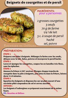 Beignets De Courgettes Et De Persil Beignets, Indian Food Recipes, Healthy Recipes, French Cake, Good Food, Yummy Food, Cordon Bleu, Entrees, Brunch